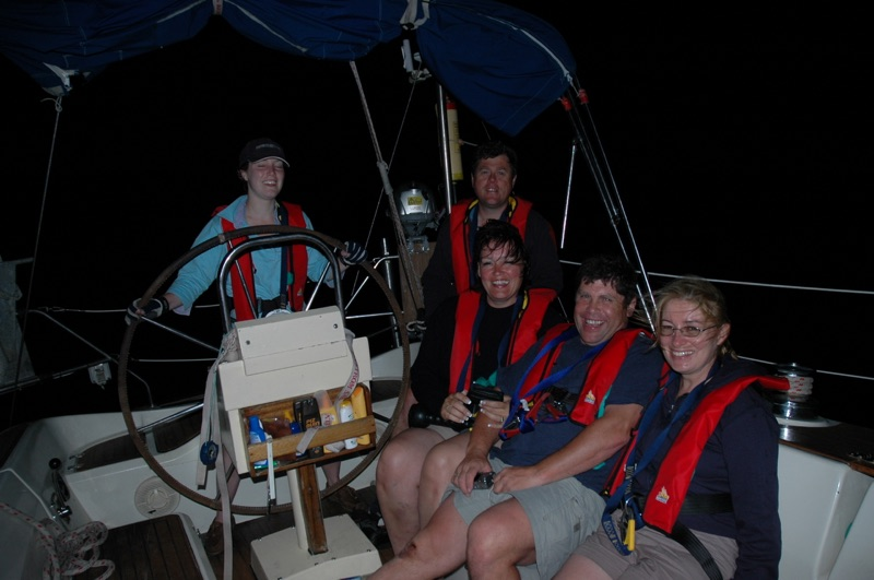 RYA course night sailing