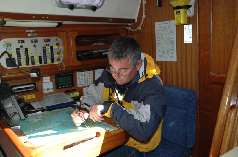 Navigating on RYA Training yacht