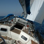 Onboard RYA Training yacht