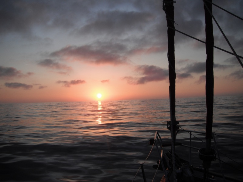 Sunset RYA sailing tuition