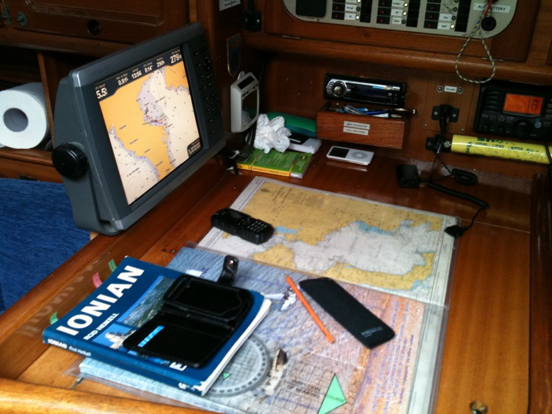 Navigation table RYA sailing Greece