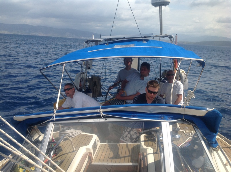 Teamwork sailing Greece