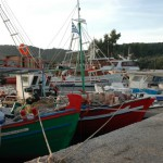 Fishing boats Corfu Greece
